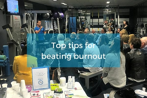 Top tips for beating burnout